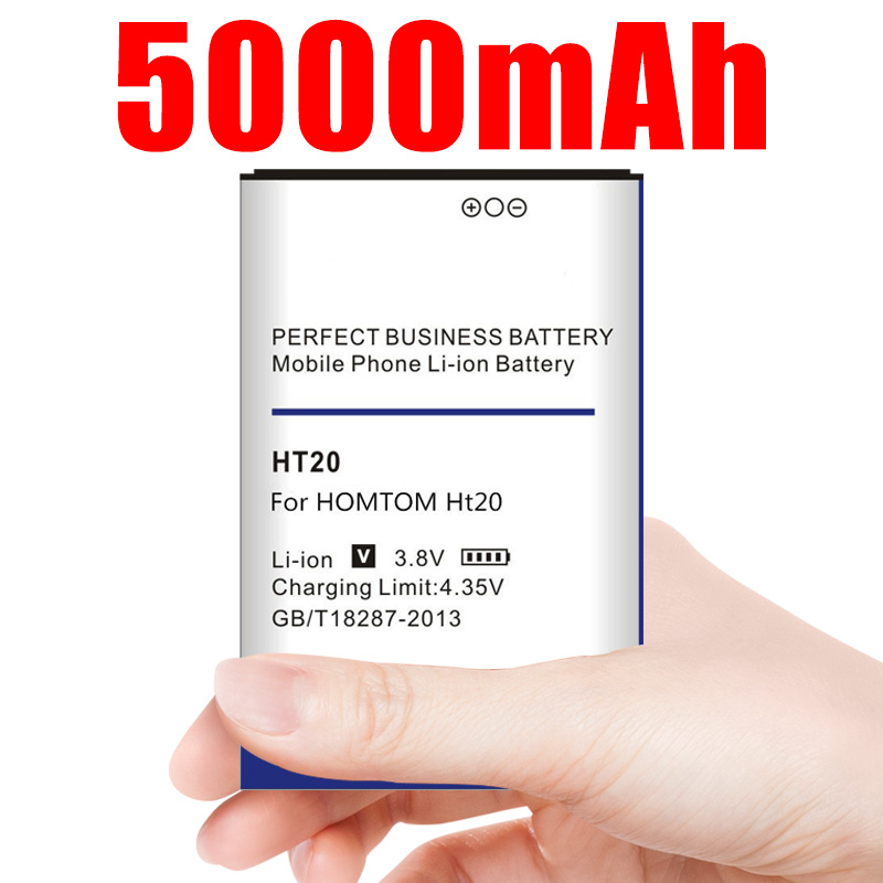 HT20 Battery Arrived 5000mAh Battery for HOMTOM HT20 / HOMTOM HT20 Pro Batteries(China)