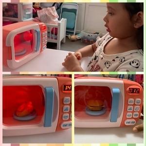 Image 4 - Kid S Keuken Speelgoed Simulatie Magnetron Educatief Speelgoed Mini Keuken Voedsel Pretend Play Snijden Rollenspel Meisjes Speelgoed