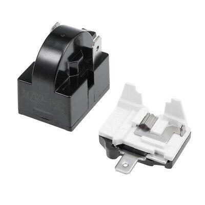 Refrigerator PTC Starter Relay 15 Ohm 2 Pin +Compressor Overload Protector 1/6HP