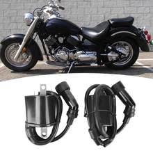 2Pcs Ignition Coil Assembly Fit for Yamaha XVS1100 V-STAR 1999 2000 2001 2002 2003 2004 2005-2009 5EL-82320-00-00 Black ABS