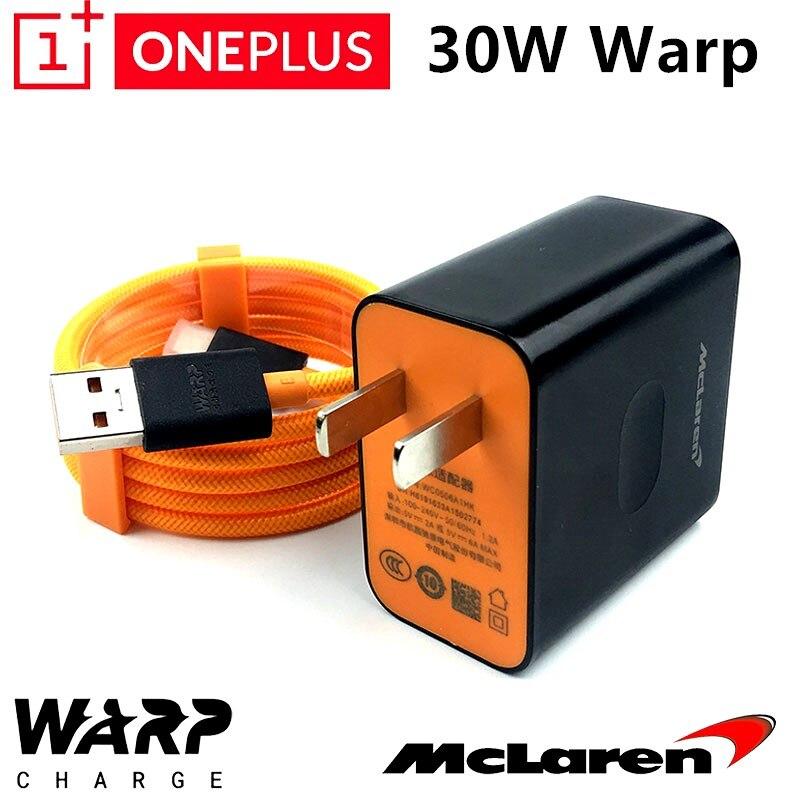 Oneplus 7t pro зарядное устройство 30W Warp Charging mlaren 5 V/6A Quick Dash charger A plus 7 7t 6 6t 5 5t 3t с 4А нейлоновым кабелем USB 3,1