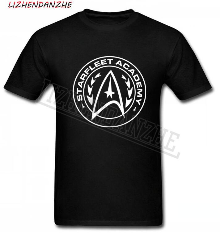 Starfleet Academy Mens T Shirt Tee Star Enterprise Space Trek Retro Gift Summer Top Camiseta Cotton Short Sleeve T-shirt AAA-2