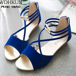 New women's sandals in summer 2020 fashionable and comfortable strap solid round head simple low heel sandals for women