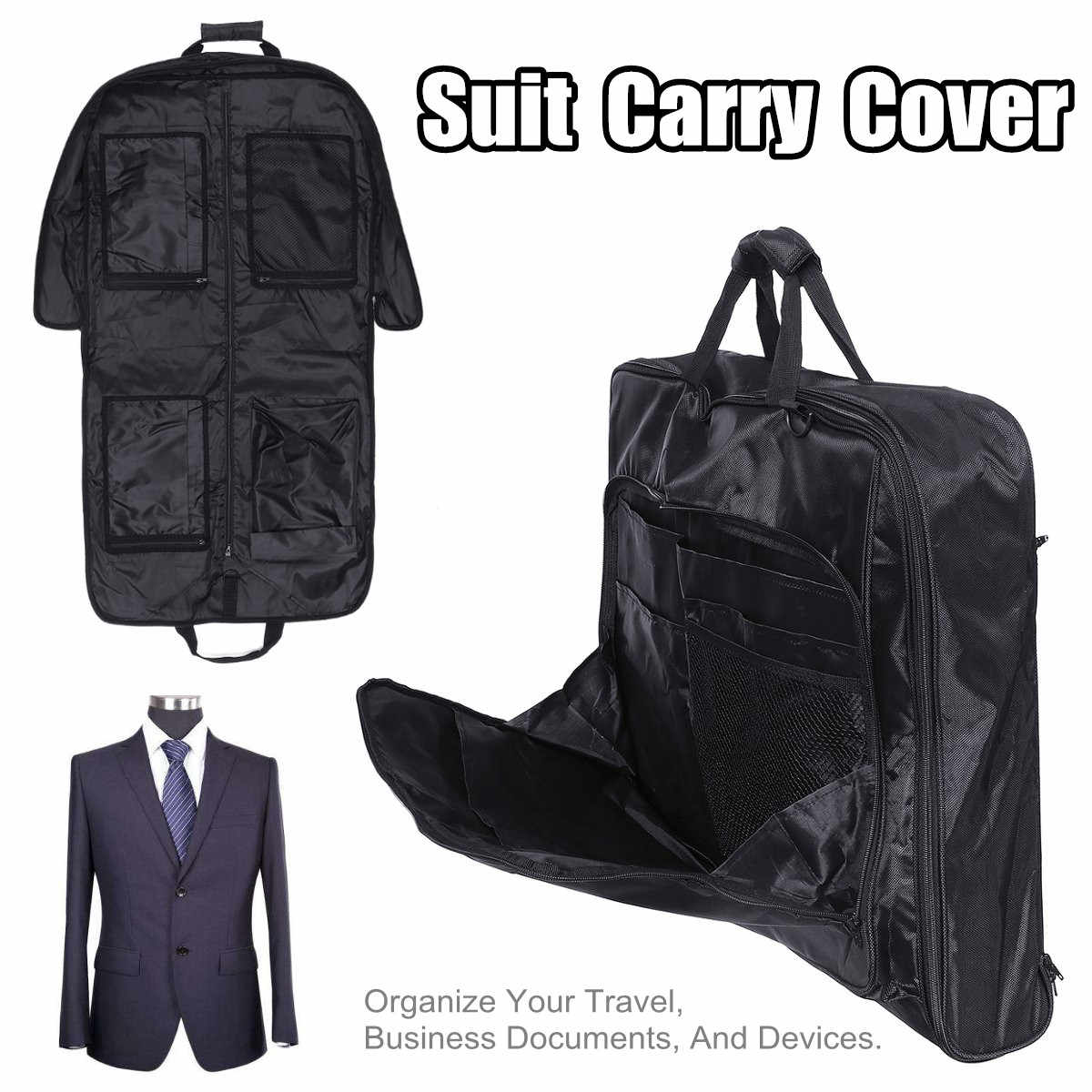 Multifunction Waterproof Dust-proof Dress Clothes Cover Case Suit Dress Garment Storage Bag Travel Business Bag Suit Carry Cover