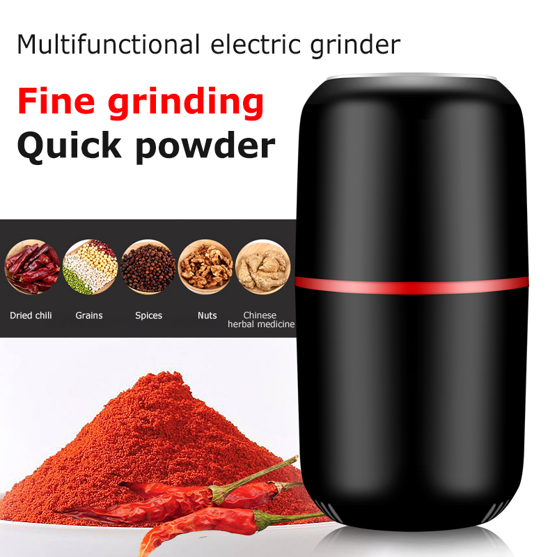 Mini Electric Coffee Grinder Multifunction Kitchen Salt Pepper Grinder Household Powerful Beans Herbs Spice Nuts Mill Machine