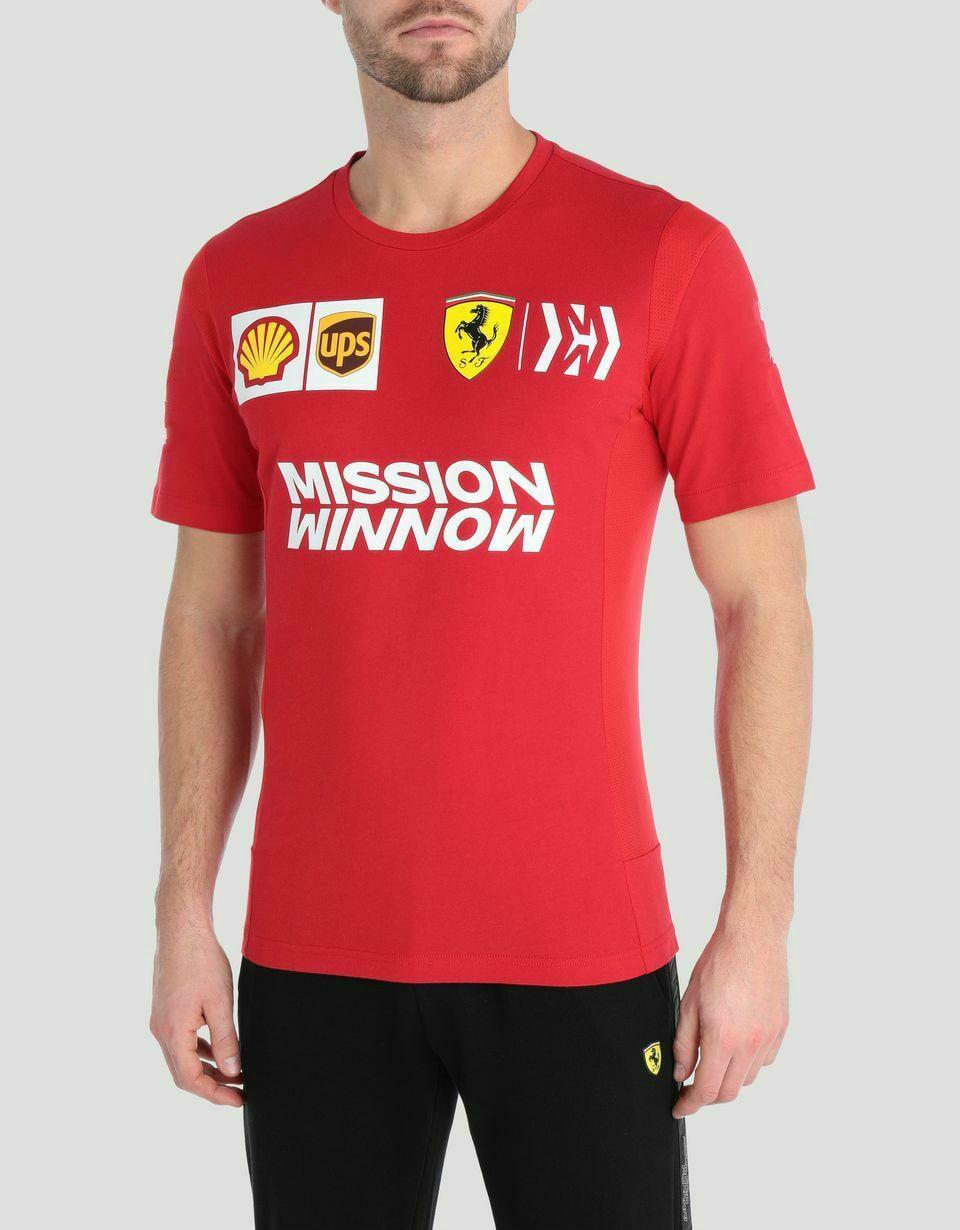 New 2019 Scuderia Ferrari F1 Team T Shirt Tee Mens Red Vettel, Leclerc  Streetwear Size S-3Xl