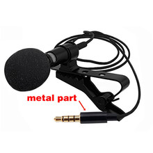 1.5m Mini Portable Microphone Condenser Clip-on Lapel Lavalier Mic Wired Mikrofo/Microfon for Phone for Laptop(China)