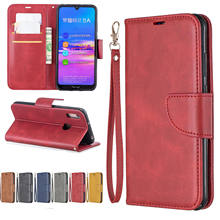 PU Leather Flip Case for Huawei Y5 Y6 pro 2017 Y6 Y7 Y9 Prime 2018 2019 Case for Honor 10i 10 8 lite 8S 8A 8C 8X Wallet Cover(China)