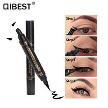 2 In1 Waterproof Lasting Quick Dry Eyeliner Pen Not Blooming Double Head Stamps Liquid Eye Liner Make Up Tool Cosmetics TSLM1(China)