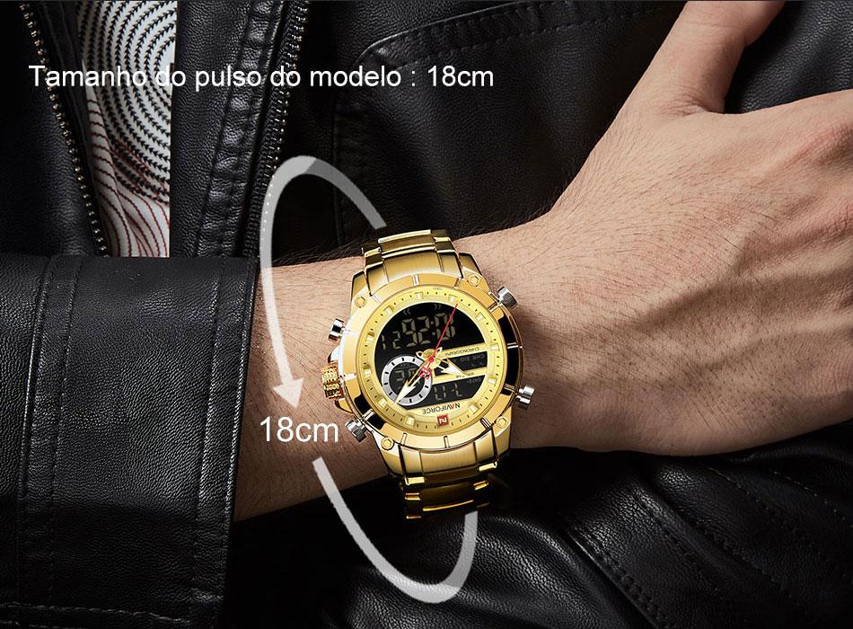 dupla exibição masculino relógios relogio masculino 9163
