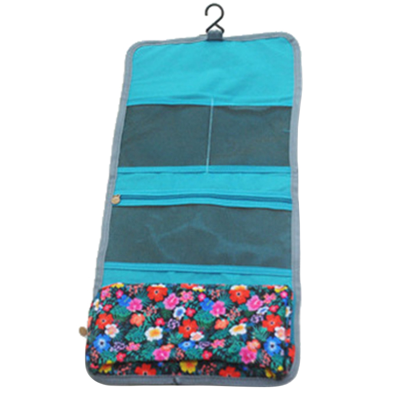 New Style Fashion Casual Practical Travel Hanging Cosmetic Bag Toiletry Organizer Ladies Women Make Up Pouch Lake Blue