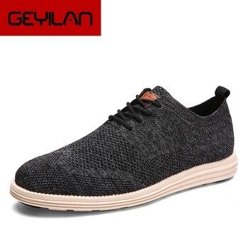 Men Casual Shoes New Fashion Breathable Lace-Up Men Flats Shoes Comfort Lightweight Male Dress Shoes Men Trampki Meskie