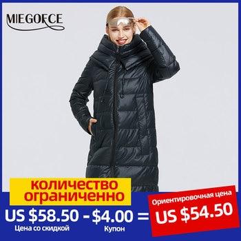 MIEGOFCE 2020 New Women's Winter Cotton Clothing Long Cotton Coat Simple Design Women Jacket Winter Parka Windproof Jacket 1