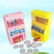Лидер продаж, детский имитирующий мини-Монетный автомат по продаже напитков самообслуживания, напитков, милые забавные игрушки для детей