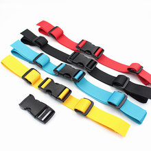 New Camping Backpack Chest Harness Strap Adjustable Dual Release Buckle Bag Parts Nylon High Quality Red Yellow Black Bags Belts