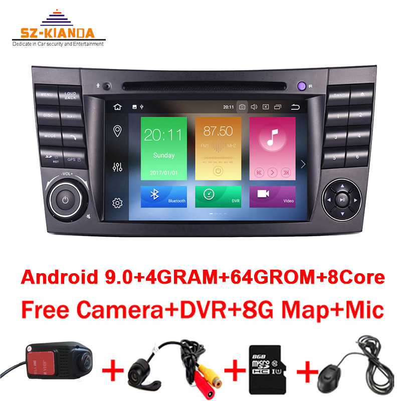 4GB RAM 64GB ROM 8Core Android 10.0 2din car DVD player For <font><b>Mercedes</b></font> <font><b>Benz</b></font> E-class W211 E200 E220 E300 <font><b>E350</b></font> E240 E270 E280 W219 image