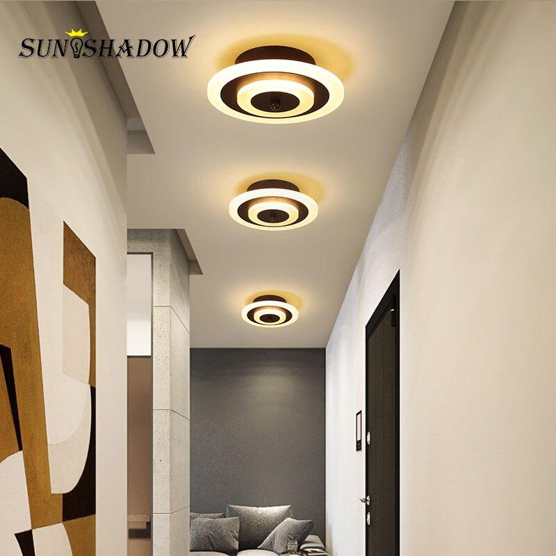 D20cm Moderne Decken Lampe Für wohnzimmer Schlafzimmer Korridor Licht Led Decke Licht White & Kaffee Leuchten