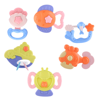 KIDAMI Baby Toy Set Rattles Teether Toys Infant Jingle Shaking Bell Lovely Hand Shake Bell Ring Bed Crib Newborn Educational Toy недорого