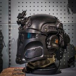 TNG Galac-tac SCHNELLE UNS Armee Taktische Helm Schutz Maske für Outdoor Jagd Airsoft Krieg Spiel (ohne Helm) -schwarz