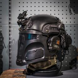 Tng Galac-Tac Veloce Us Army Tactical Helmet Maschera Protettiva per La Caccia All'aperto Airsoft Gioco di Guerra (Senza Casco) -Nero