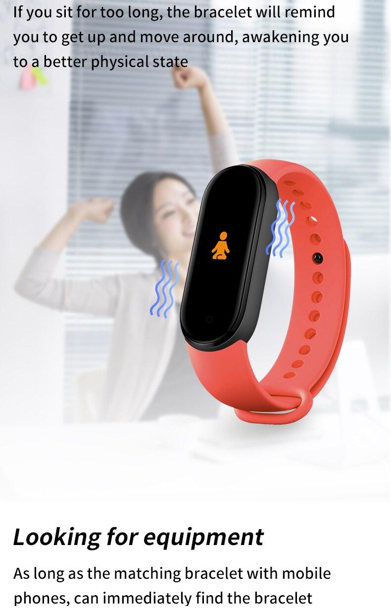 M5 tela colorida pulseira inteligente com freqüência
