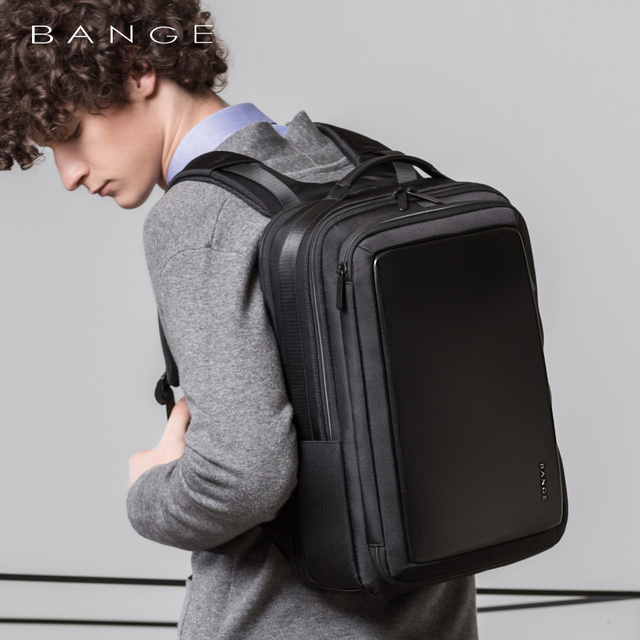 "Bange Fashion Men 15""Laptop Backpack External USB Charge Computer Backpacks Anti-theft Waterproof Travel Backpack for Unisex 1"