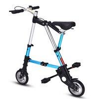 8/10 inch Folding Bike Mtb Aluminum Alloy Ultra Light Road Bicycle Shopping Subway Travel Portable Cyclling Wheel balance Bike