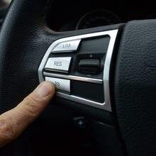 Chrome estilo do carro volante botões decoração quadro capa para bmw 5/7 series gt f10 f07 f01 acessórios interiores adesivos