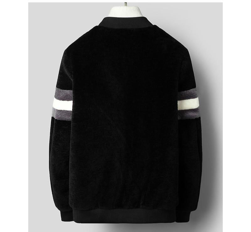 2020 Real Fur Coat Men Autumn Winter Sheep Shearing Wool Jackets Parka Bomber Jacket Jaqueta De Couro C-52-8770 KJ3303