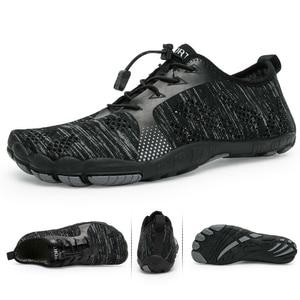 Image 1 - אקווה נעלי גברים יחפים גברים חוף נעלי לנשים במעלה הזרם נעלי הליכה לנשימה ספורט נעל מהיר יבש נהר ים מים סניקרס