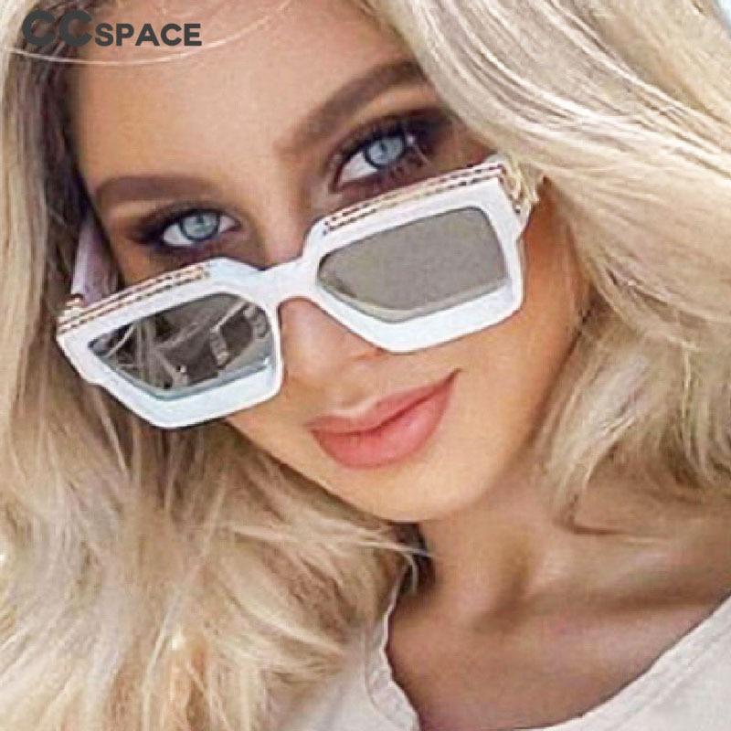 CCspace 46167 Square Luxury COOL Sunglasses Men Women Fashion UV400 Glasses|Women's Sunglasses| - AliExpress