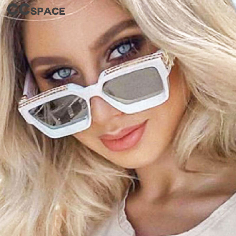 CCspace 46167 Square Luxury COOL Sunglasses Men Women Fashion UV400 Glasses