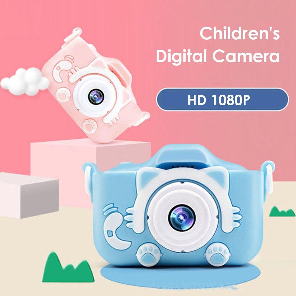 Children Mini Full HD Camera Portable Digital Camera 2 Inch Screen Display Children Game Learning Camera Gift Toys