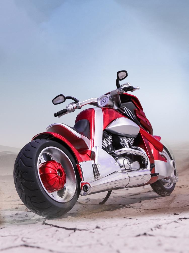 Hobbies colecionáveis modelo de motocicleta brinquedos huayi modelo 1:12 yamaha tyrannosaurus V REX veículos diecast com sons e luz Carrinhos de brinquedo e de metal    -