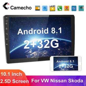 Camecho Car Radio 2Din Android Car Multimedia GPS Bluetooth Player For VW Nissan Hyundai Skoda Seat Polo Kia Passat b6 Autoradio image