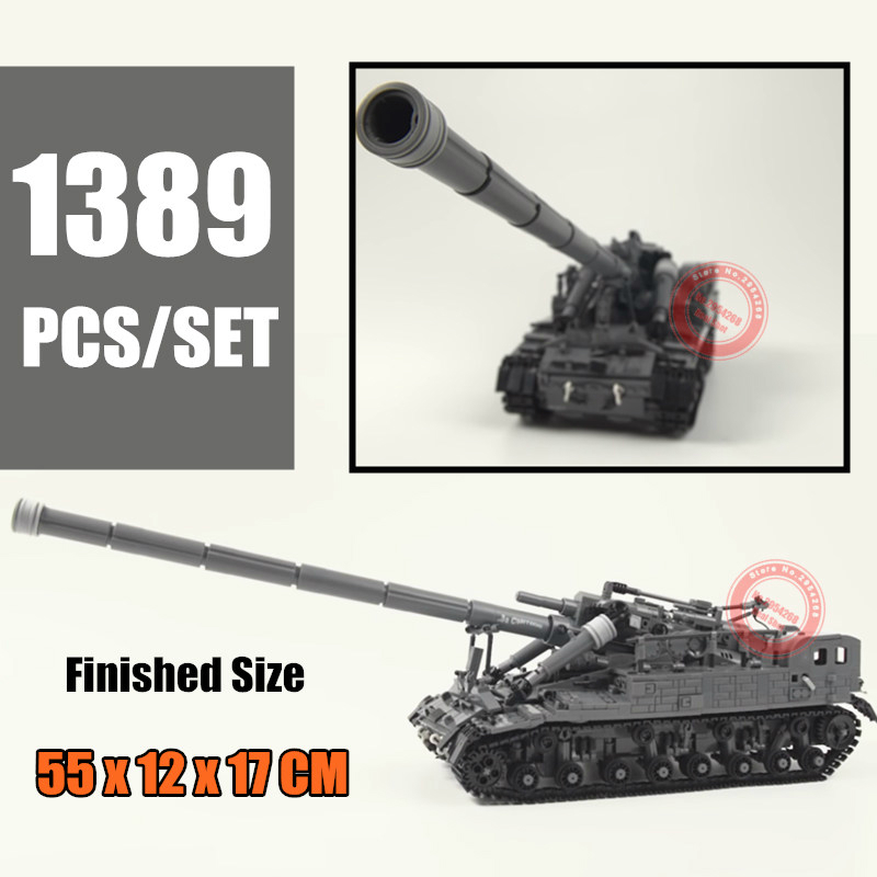 New 1389PCS MOC T92 Tank Army Fit Military SWAT Technic Figures Education Building Blocks Bricks Toys