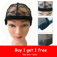Get more info on the 1pcc Rose Lace Wig Caps For Wig Making Weave Weaving Cap Stretchy Net Mesh With Adjustable Strap Black Dome Wig Cap