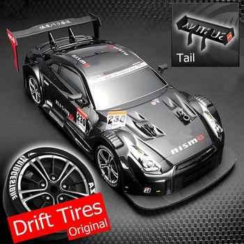 1:16 58 km/h RC dérive voiture de course 4WD 2.4G haute vitesse GTR télécommande Max 30m Distance de contrôle électronique passe-temps jouets voiture cadeaux
