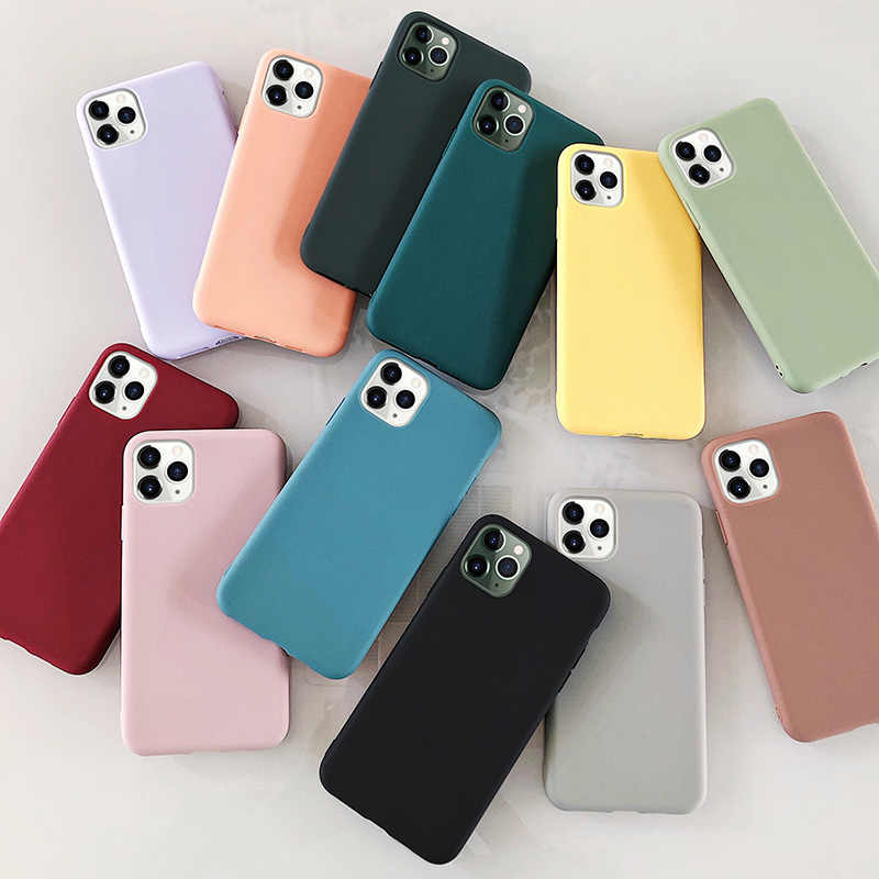 Case For Iphone 5S Phone Case Silicon Black TPU Funda Coque For Ipone 5 5S 6 S 6S X XS 11 Pro Max XR  7 8 Plus 7plus 8plus Case