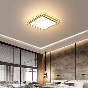 Image 2 - מודרני תקרת אורות מנורת תקרת שחור לבן זהב אהיל באיכות גבוהה תקרת מנורות עבור אוכל חדר שינה משטח רכוב