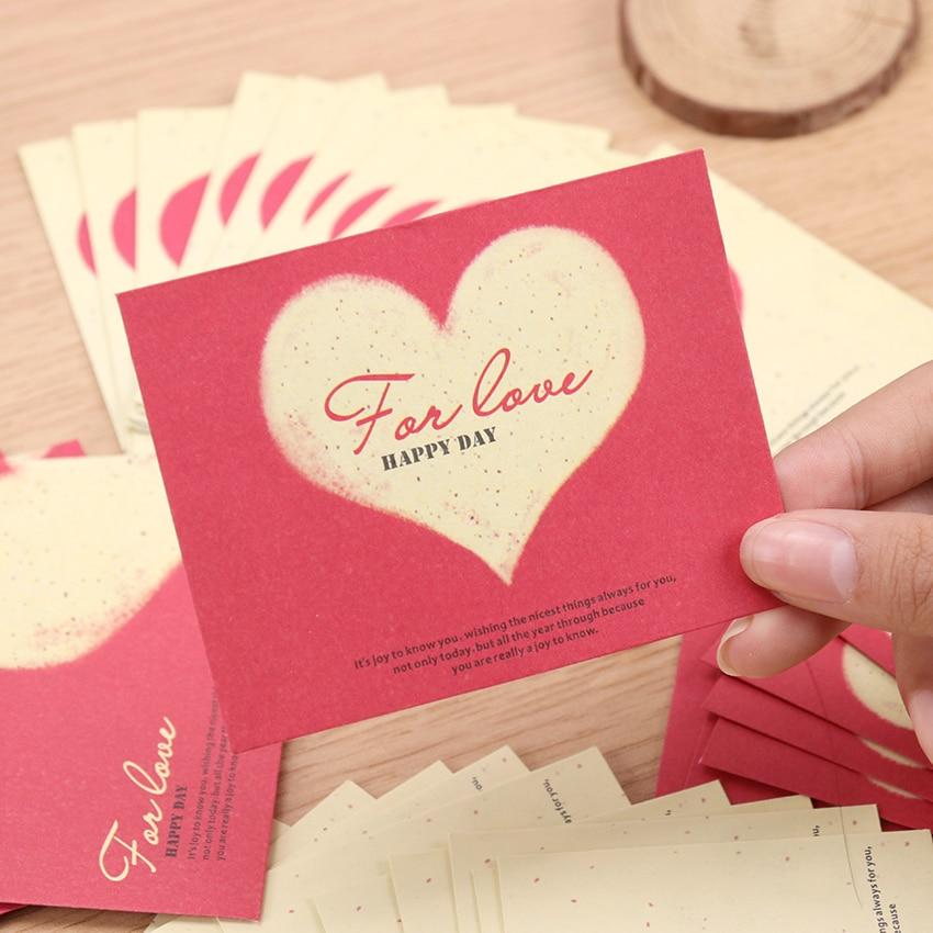10PCS Creative Love Heart Paper Blank Mini Paper Window Envelopes Wedding Invitation Envelope Gift Envelope