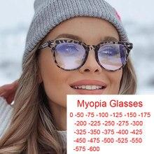 Listo-miopía Leoaprd transparente gafas para los hombres y las mujeres de filtro azul gafas juego puntos 0 -1 -2 -6 de gafas de sol de moda