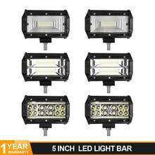 цена на 5 inch 72W LED Work Light Bar Flood Wide Spot Combo Beam Headlight For JEEP Auto UAZ GAZ ATV LED Offroad 4WD 4x4 SUV Truck Boat