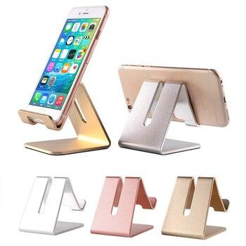 1pc Luxury Golden Desk Phone Holder Aluminum Business Card Holder Phone Rack Office Supplies Desk Display Stand Desk Accessories 1