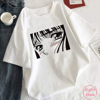 Tearful Girl Summer Aesthetic Korean Style White T Shirt Graphic Harajuku Tees Black Comics Anime Tshirt Women Clothes Tops perfume bottle watercolor hand t shirt women harajuku anime t shirt 90s korean style tshirt graphic aesthetic top camiseta mujer