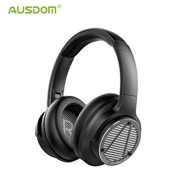 [Newest]AUSDOM Deep Bass Headphone,Wireless Bluetooth5.0 ANC Headset,CVC Microphone,Dynamic Driver HiFi Party DJ Music Headphone