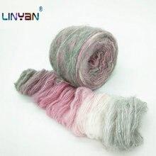 Ovillos de lana para tejer a mano, hilo de algodón de grosor medio para tricotar, ovillos de lana para tejer a mano ZL35, 250g