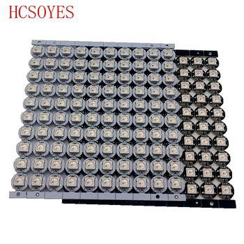 10 ~ 100 pièces WS2812B LED adressable individuellement WS2811 IC rgb blanc/noir 2812b LED dissipateur thermique (10mm * 3mm) 5050 SMD RGB intégré