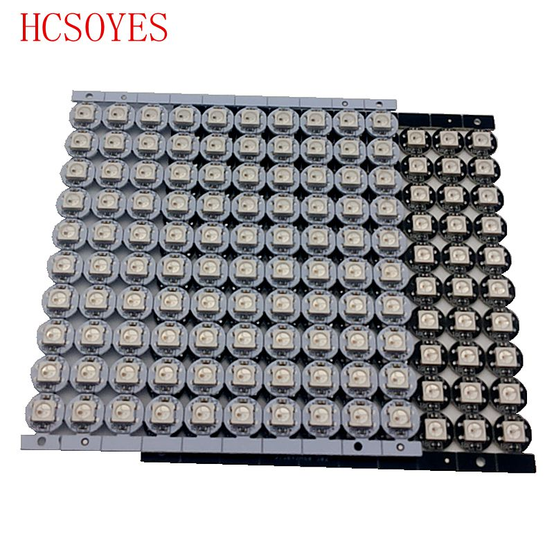 10~100 Pcs WS2812B LED Individually Addressable  WS2811 IC Rgb White/black 2812b Led Heatsink (10mm*3mm) 5050 SMD RGB Built-in