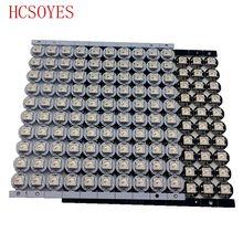 10 ~ 100 pcs WS2812B LED Individualmente endereçáveis WS2811 IC rgb branco/preto 2812b led dissipador de calor (10mm * 3mm) 5050 SMD RGB Built In